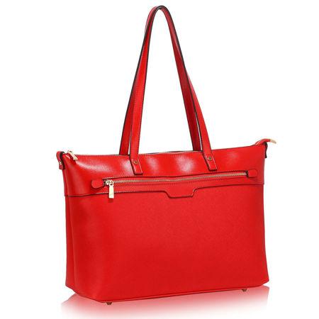 d673c5337a75f Duża czerwona klasyczna torebka na ramię czerwony