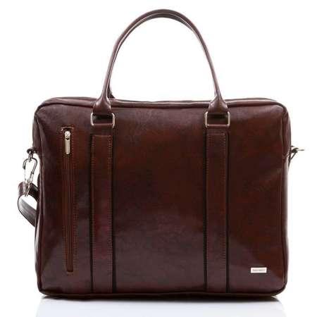 Elegancka torba codzienna na laptopa brązowa