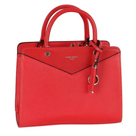 9a356e5d085b8 Nieduża klasyczna torebka damska DAVID JONES czerwona czerwony ...