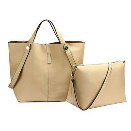 3d32d9c429e57 Torebka damska shopper bag 2 w 1 beżowa