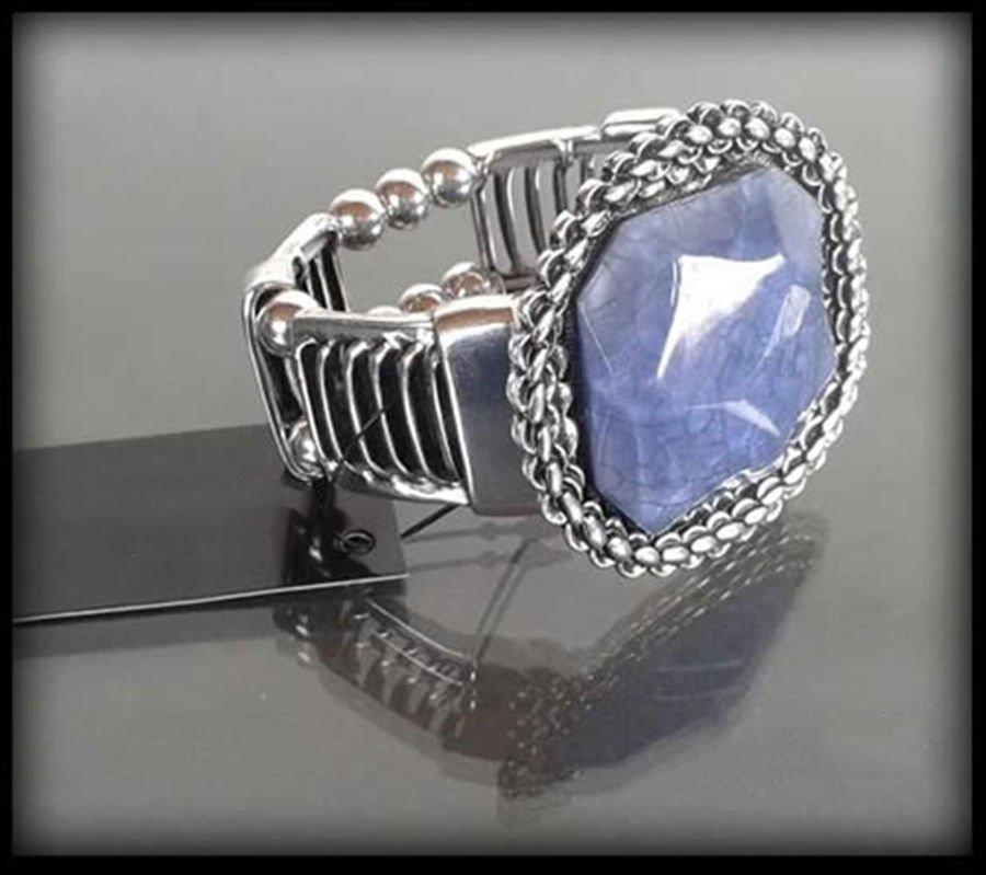 fa58ca3eda07c5 Bransoletka z dużym niebieskim kamieniem niebieski   Sklep ...