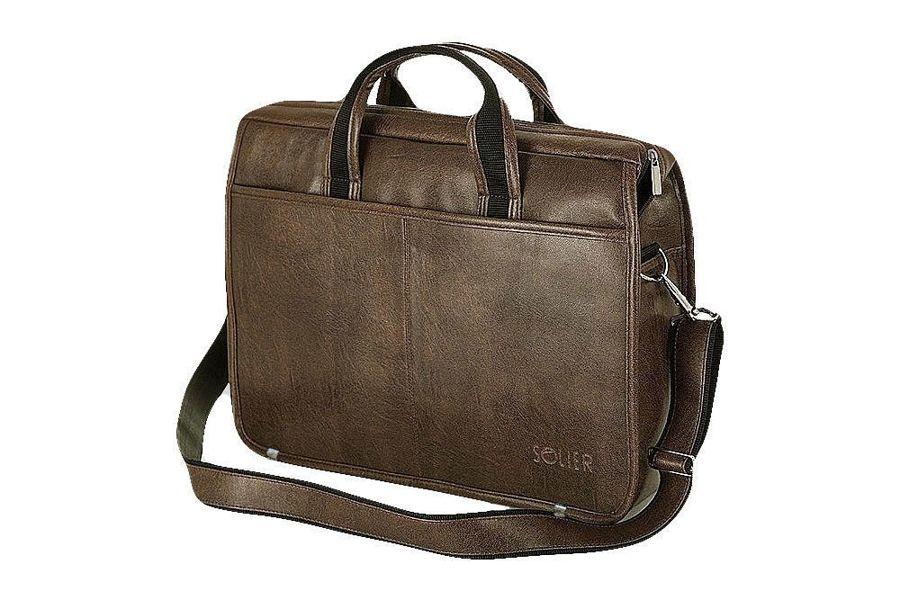 9519d46ad75b1 Brązowa torba męska na ramię, do ręki, na laptopa Kliknij, aby powiększyć  ...