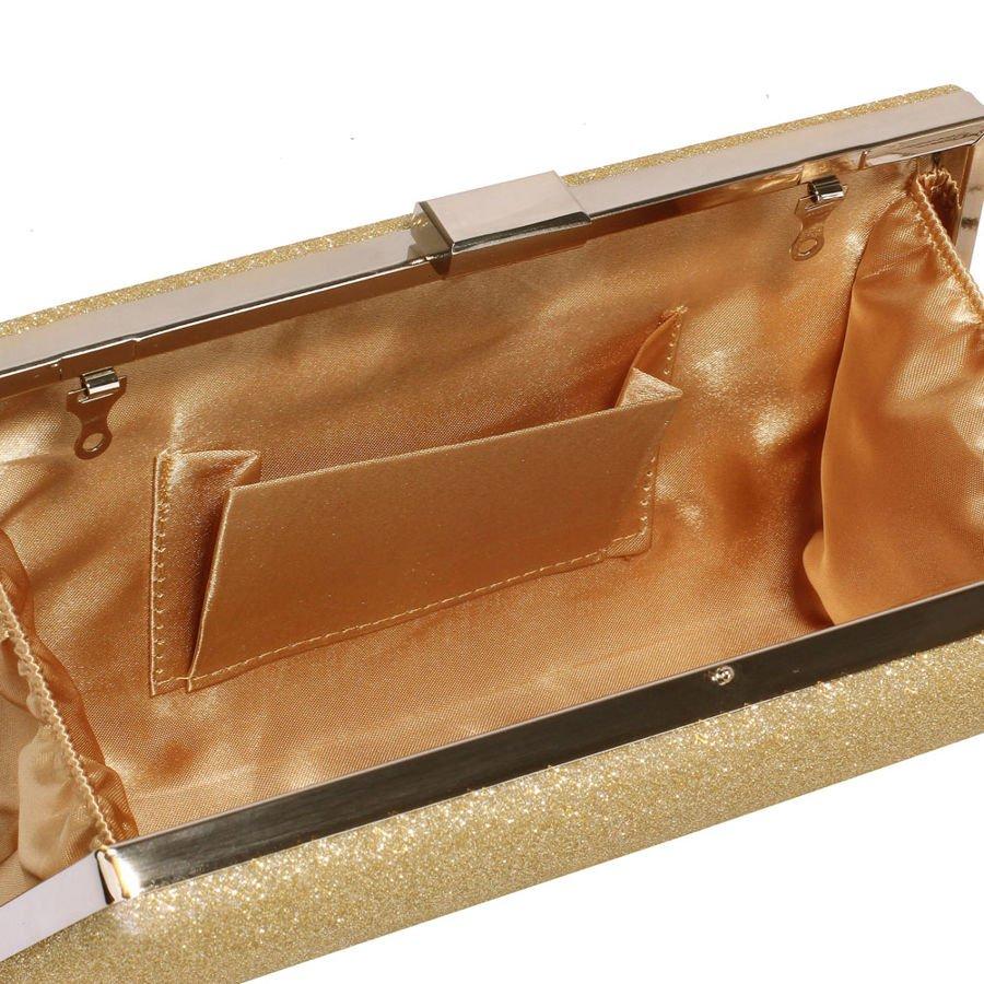 fb076d6743542 ... Brokatowa torebka wizytowa kopertówka złota Kliknij