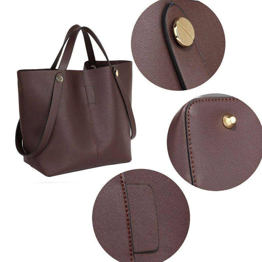Stylowa duża torba Czekoladowy Shopper Bag Torebki