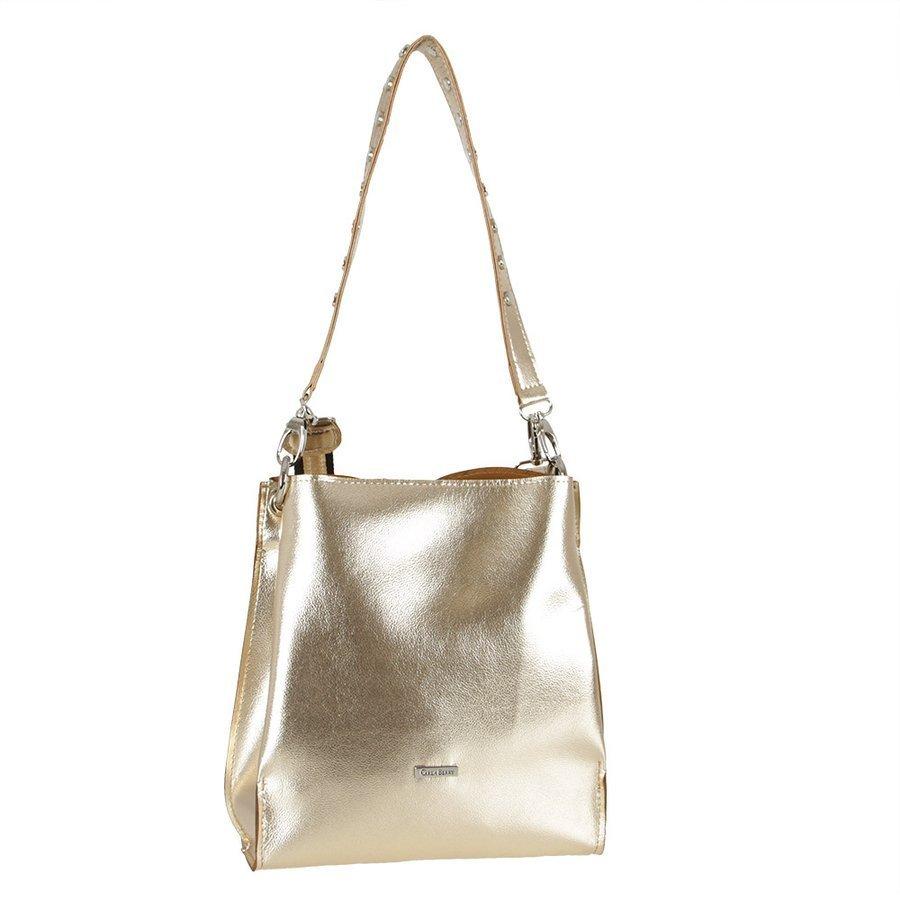 Dwukomorowa elegancka torebka damska złota