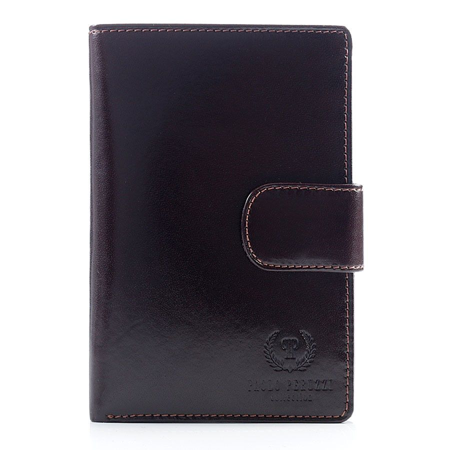 6bbf3524dbc2c Luksusowy portfel męski z naturalnej skóry brązowy brązowy