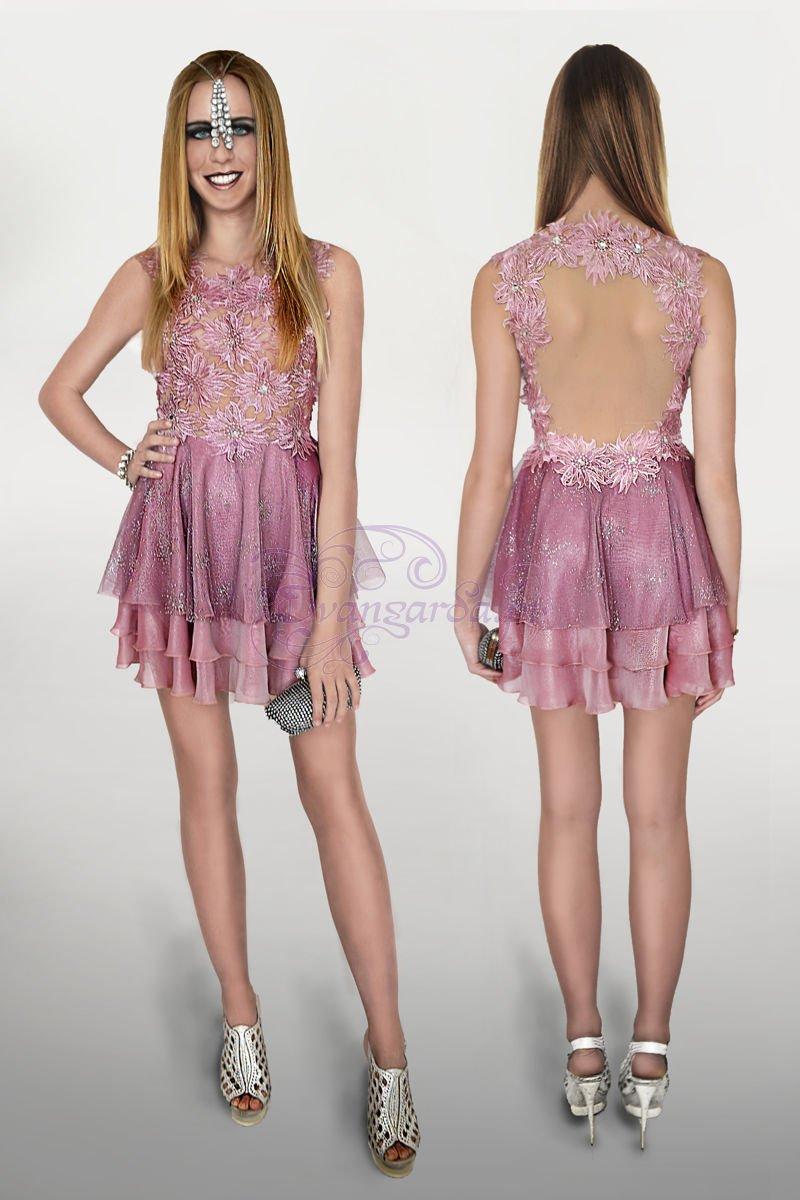 Groovy Liliowa sukienka z kryształkami CRYSTAL DRESS | Sklep internetowy RF16