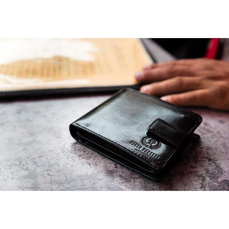 c6d89660148aa ... Luksusowy męski portfel ze skóry naturalnej czarny Kliknij