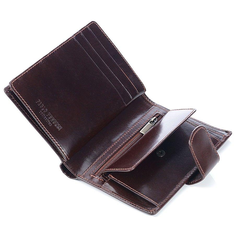 a511a32b0eece ... Luksusowy portfel męski z naturalnej skóry czarny Kliknij