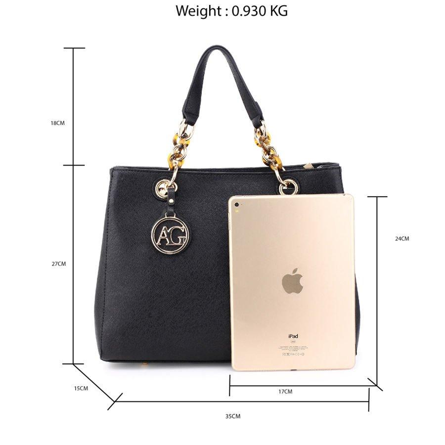 8e5c7614fd707 ... Modna klasyczna torebka damska czarna Kliknij, aby powiększyć ...