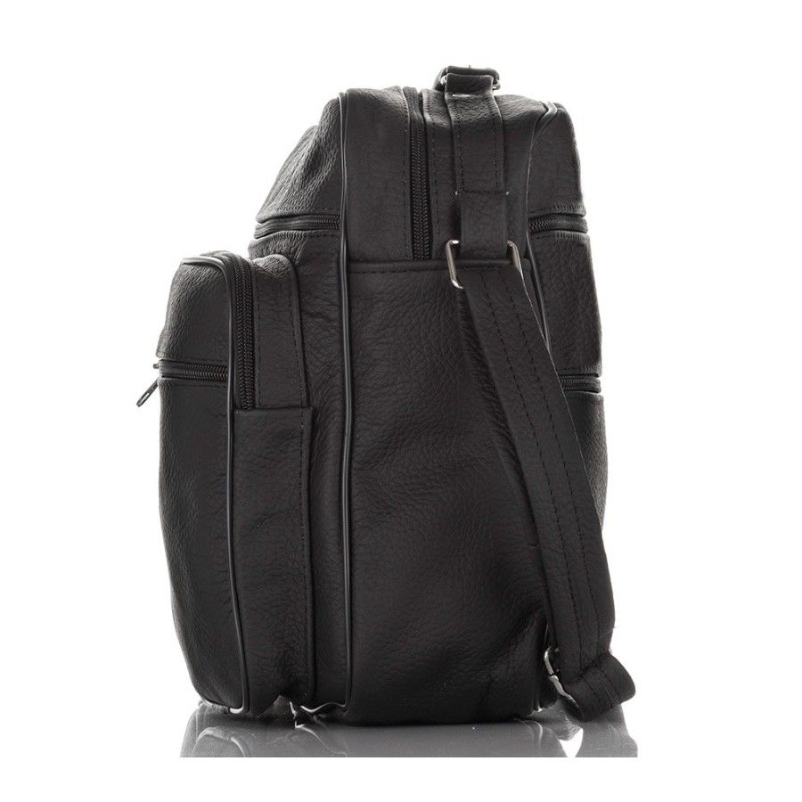 f8c6c3c2d9b02 ... Skórzana torba męska czarna kieszenie Kliknij