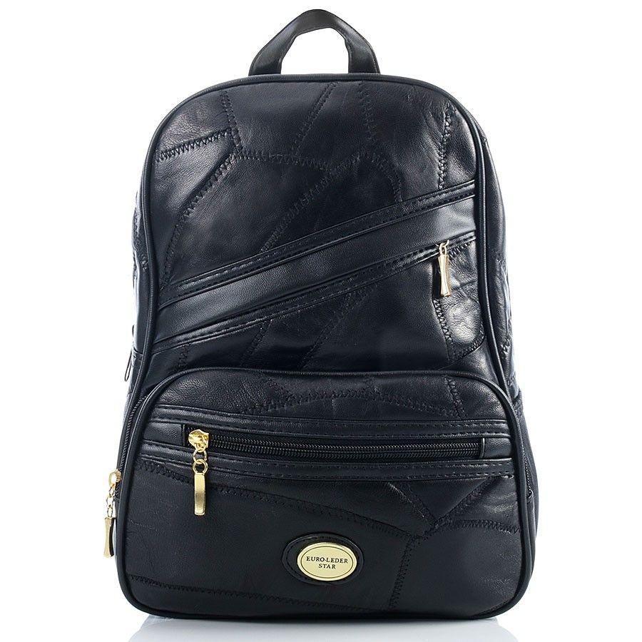 1af463b13c165 ... Skórzany patchworkowy plecak damski czekoladowy Kliknij, aby powiększyć  ...