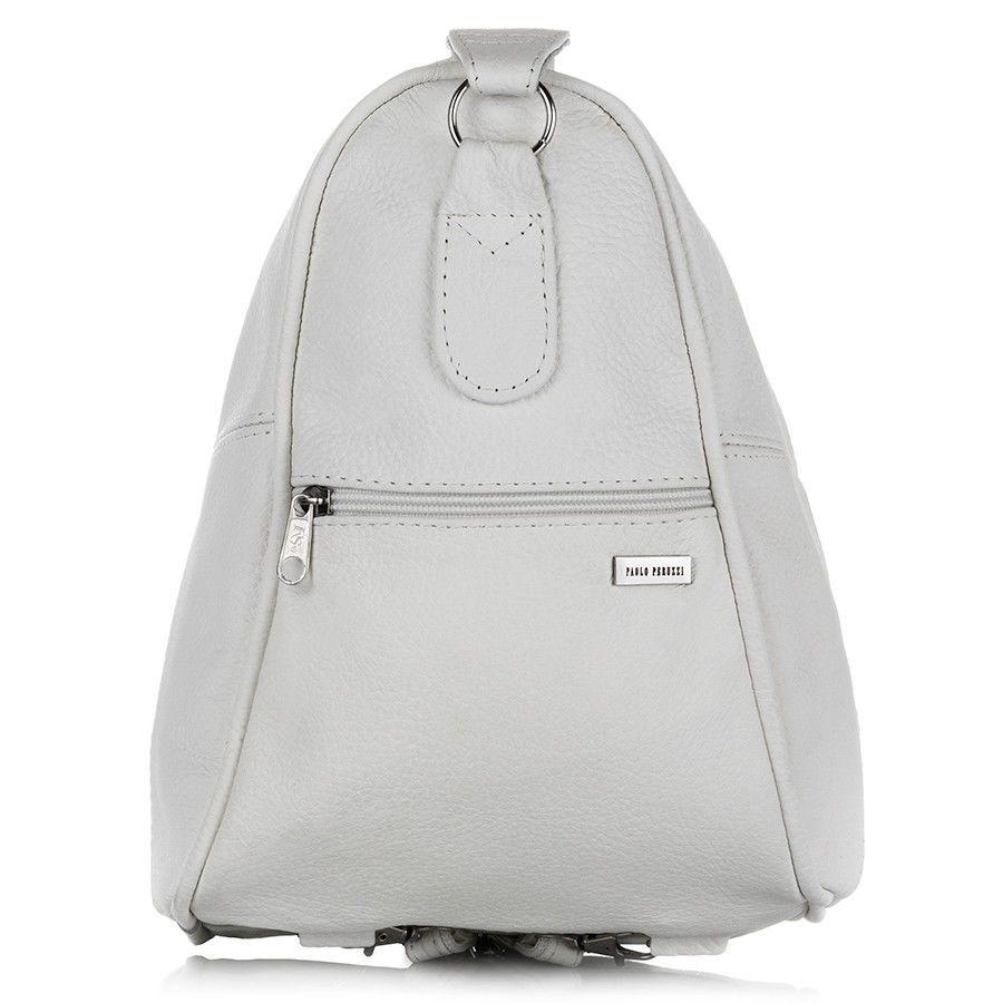 f3c10f80bb32b Skórzany plecaczek i torebka 2 w 1 kolor biały Kliknij, aby powiększyć ...