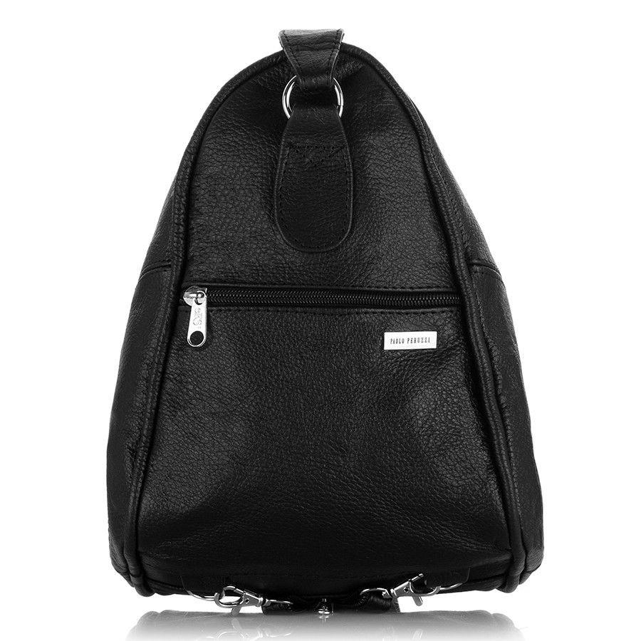 e00ceb24f191c Skórzany plecak damski i torebka w jednym czarny czarny