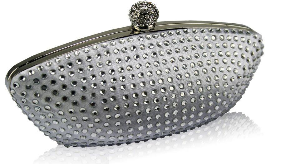fe0aa394aeaab Srebrna torebka wizytowa szkatułka z cyrkoniami srebrny