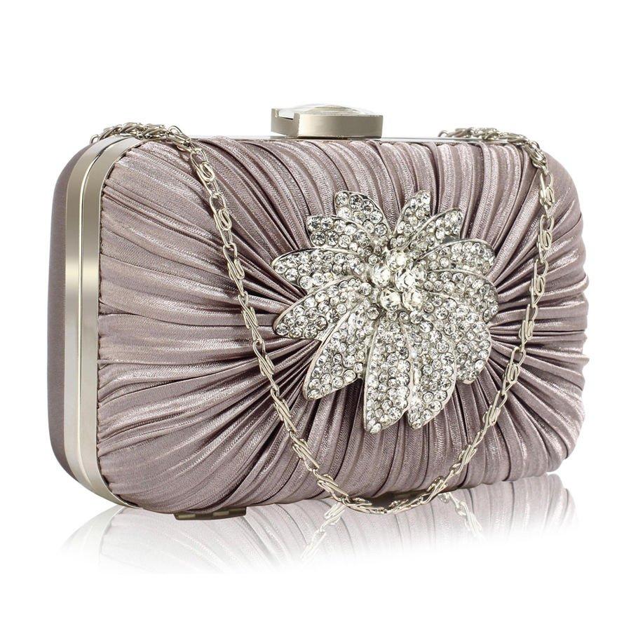 8dfd9d555b184 Szara torebka wizytowa szkatułka Kryształowy Kwiat Kliknij