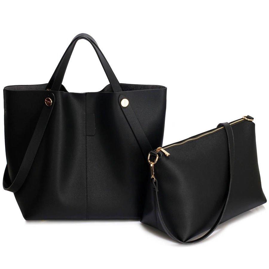 0258766bc6b8c Torebka damska shopper bag czarna czarny