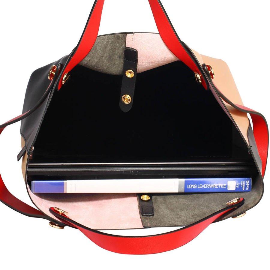 1ccbe1b2327c1 ... Torebka damska shopper bag szaro-czarna Kliknij, aby powiększyć ...