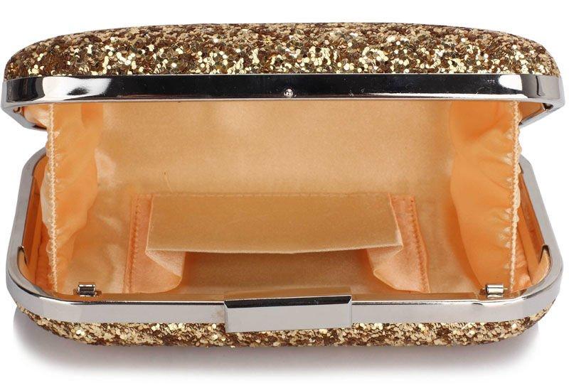 4eeb760410877 ... Złota torebka wizytowa z drobnych cekinów Kliknij