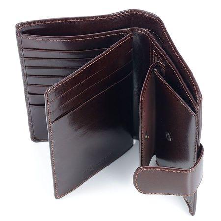 ce8f815b92ac2 Luksusowy portfel męski z naturalnej skóry czarny czarny